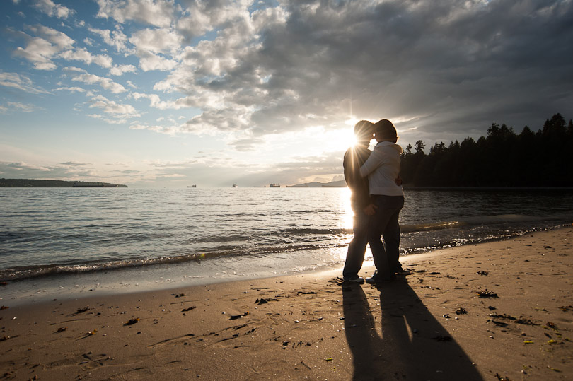 engagement english bay vancouver wedding photographer