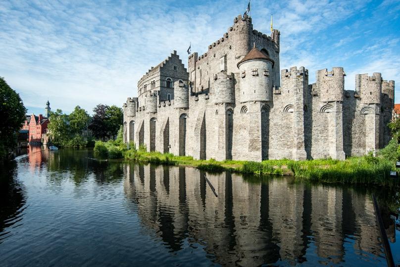 medieval castle in belgium