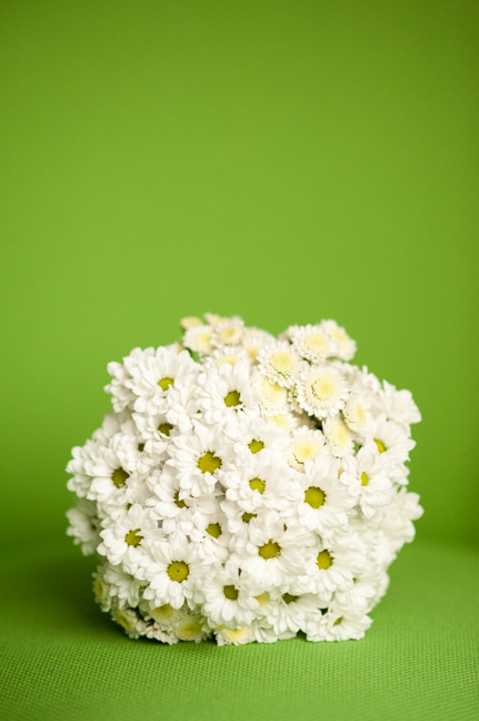 bridal bouquet green background