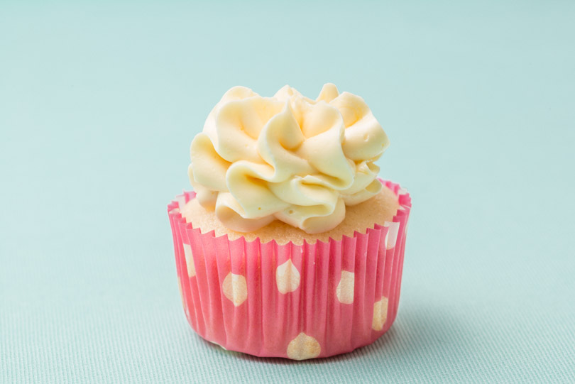 passion fruit mini cupcake