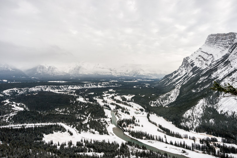 banff tunnel mountain scenic view photo