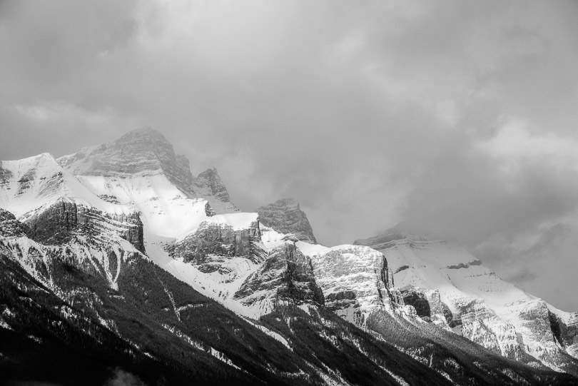 rocky mountain peaks jasper alberta photo