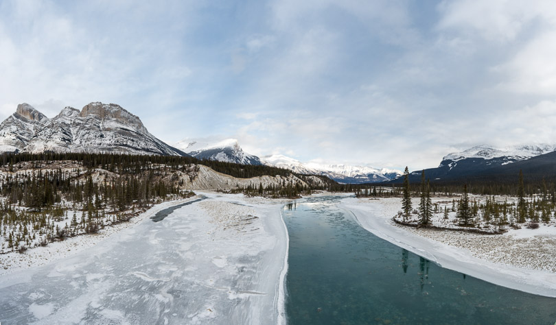 frozen river jasper national park picture
