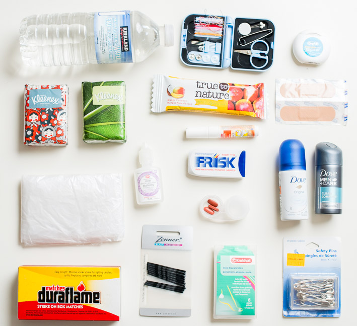 18 must-have items for your wedding day emergency kit