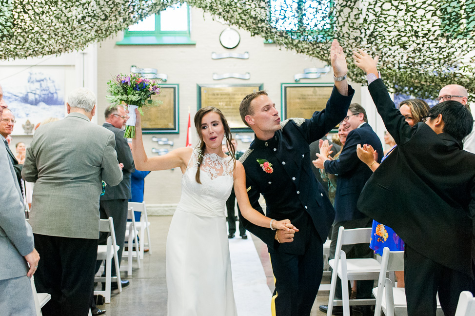 Vancouver-bride-groom-highfive