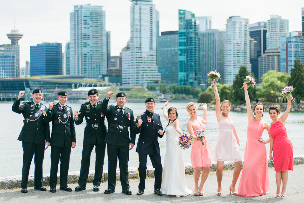 Vancouver-skyline-military-wedding