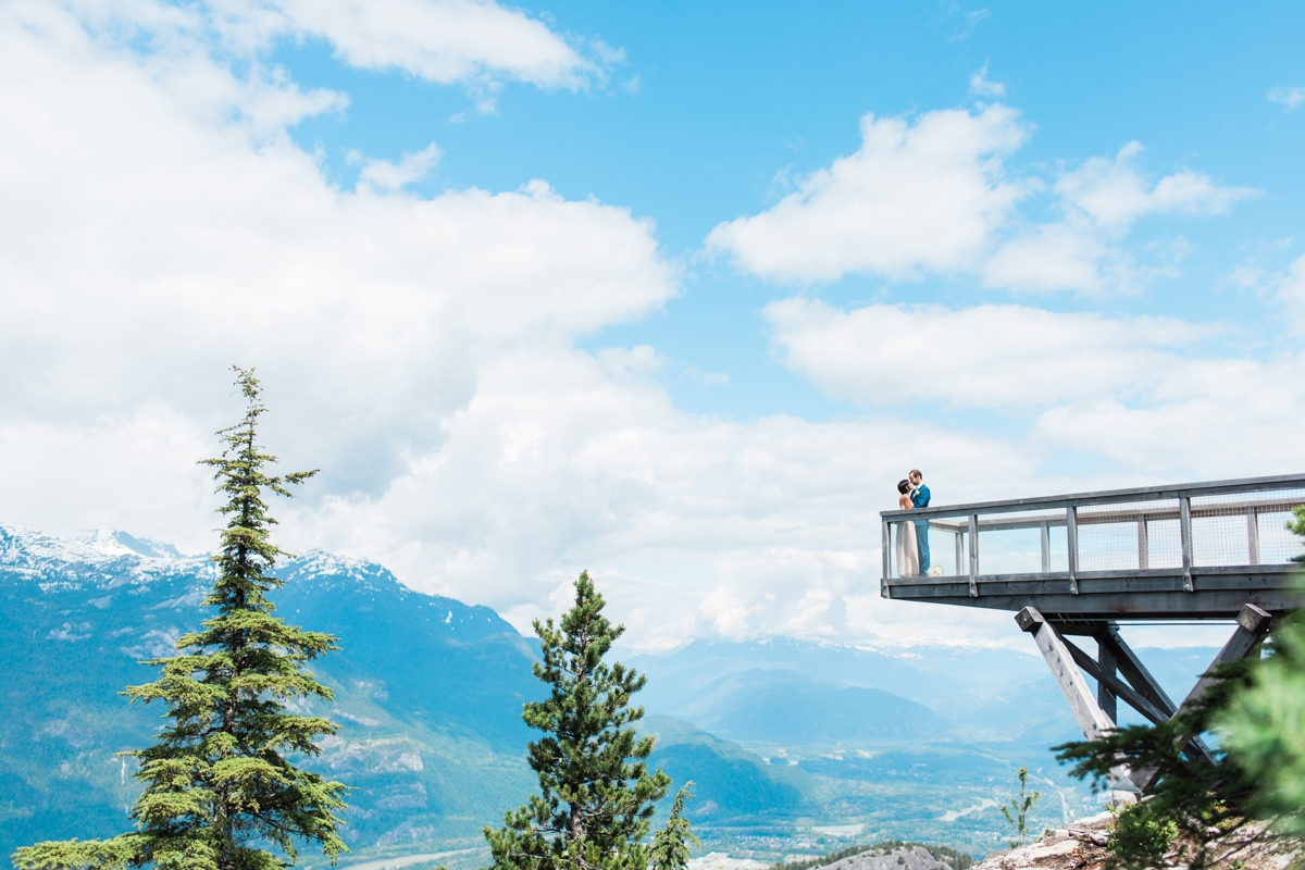 a couple at the sea to sky gondola for a wedding blog about timeline tips