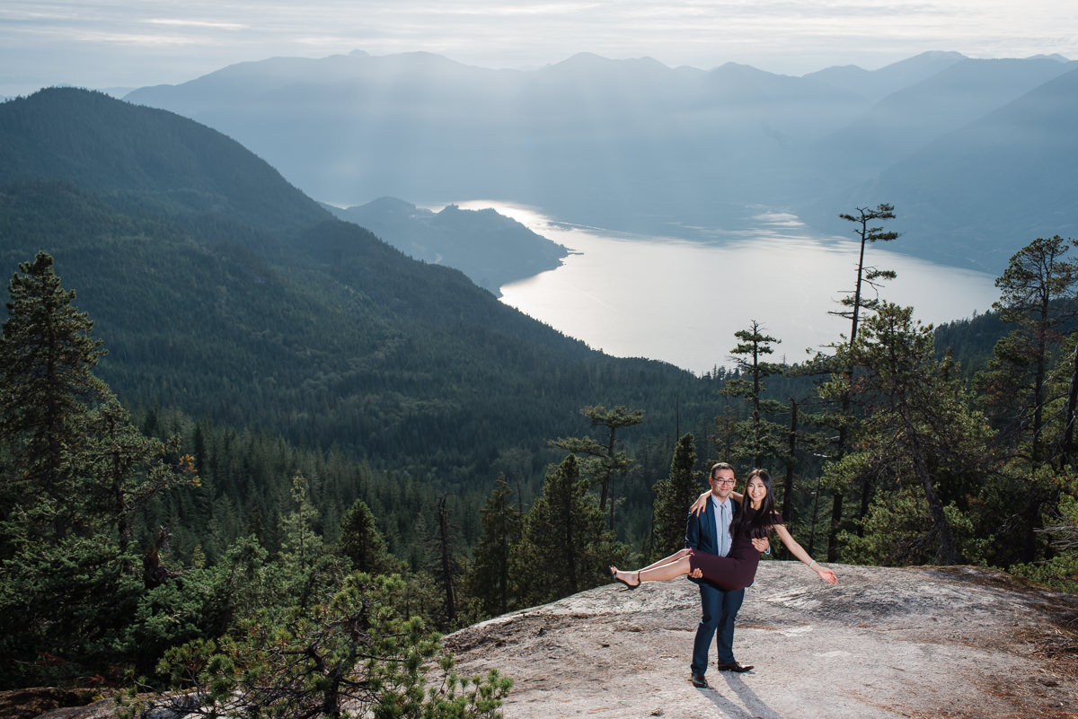 Sea to Sky Gondola engagement