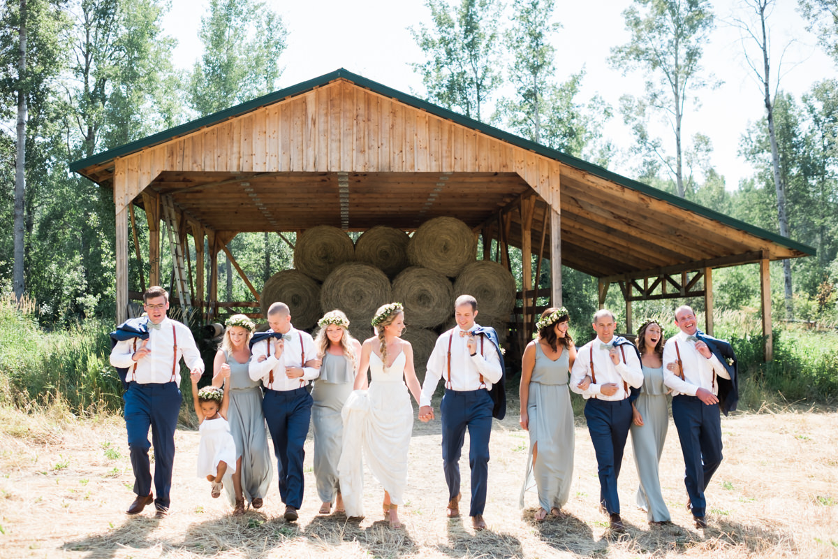 Sunshine Ranch wedding bridal party