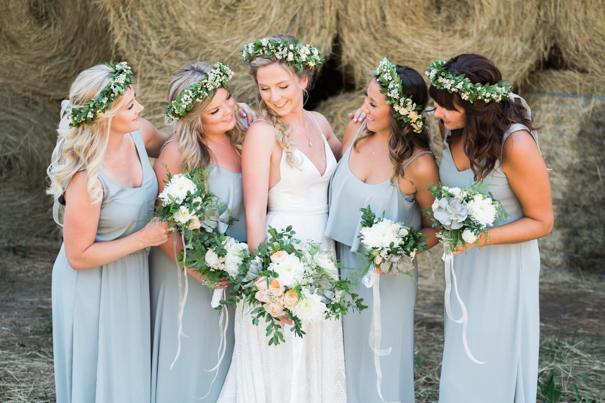 rustic wedding inspiration with hay