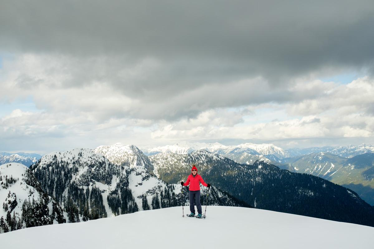 First Peak Seymour Mountain snowshoeing