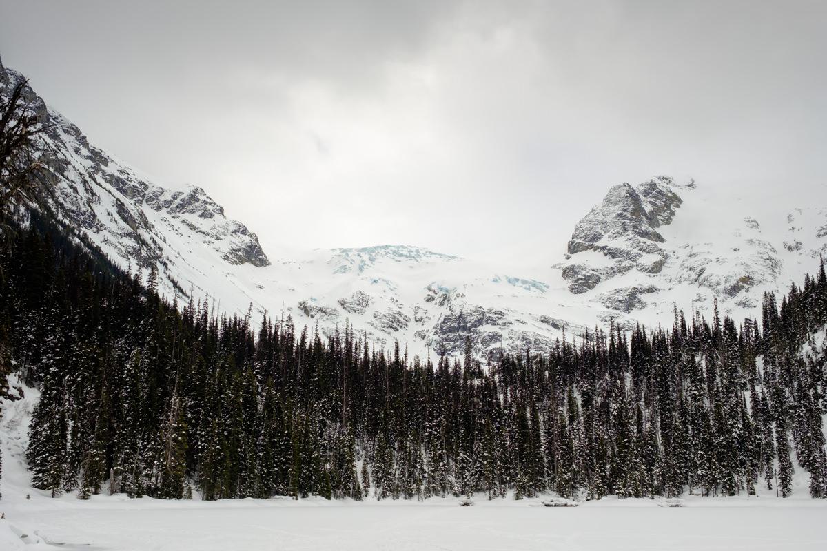 Joffre Lakes snowshoe adventure