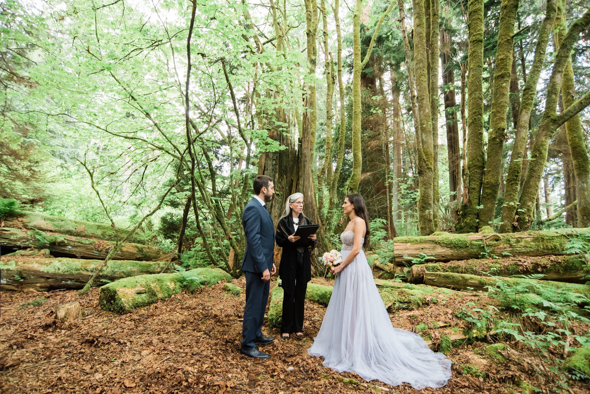 Intimate Stanley Park forest wedding