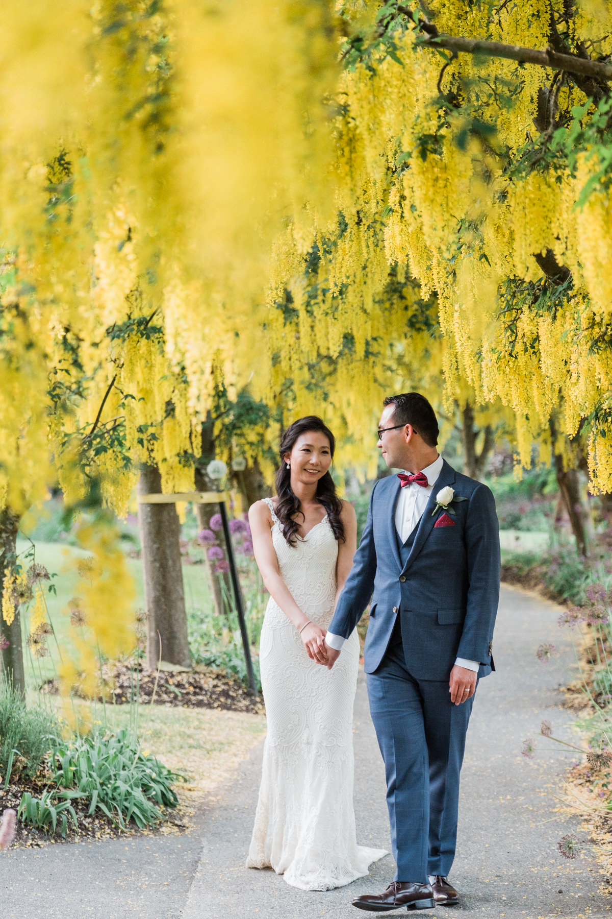 Vandusen Gardens Golden Chain wedding photos