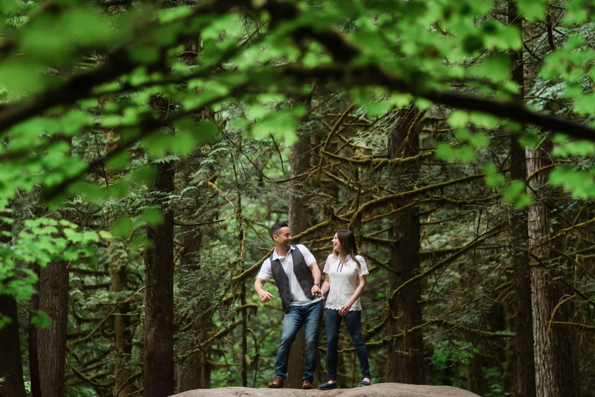 Lynn Canyon engagement photos