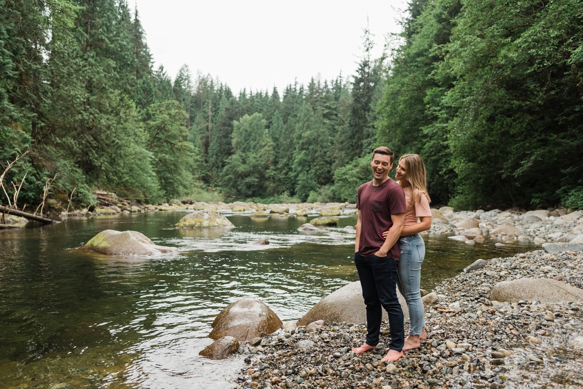 Seymour River engagement photos