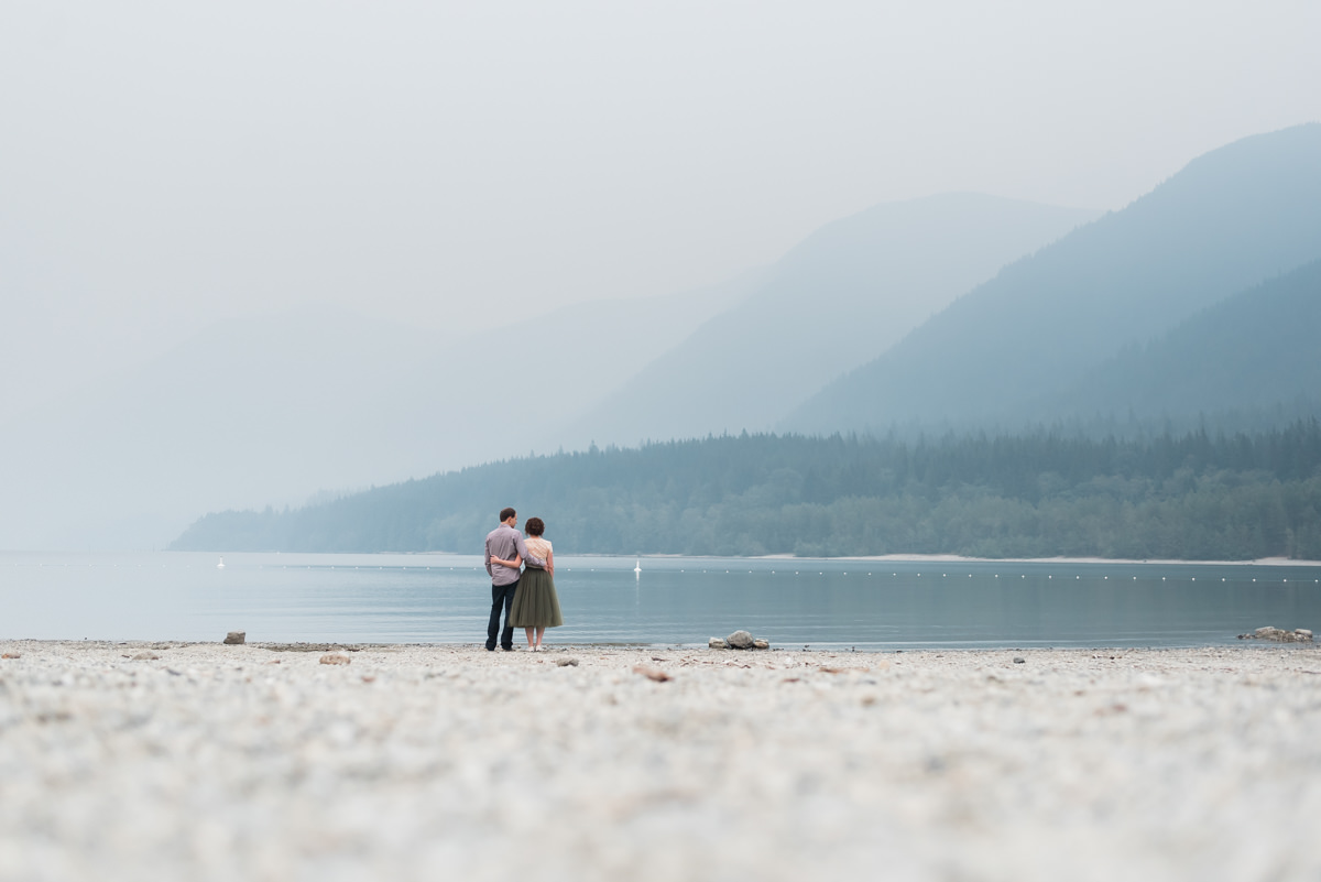 Alouette Lake engagement photos