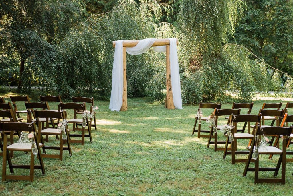 Eagle Valley Retreat wedding ceremony