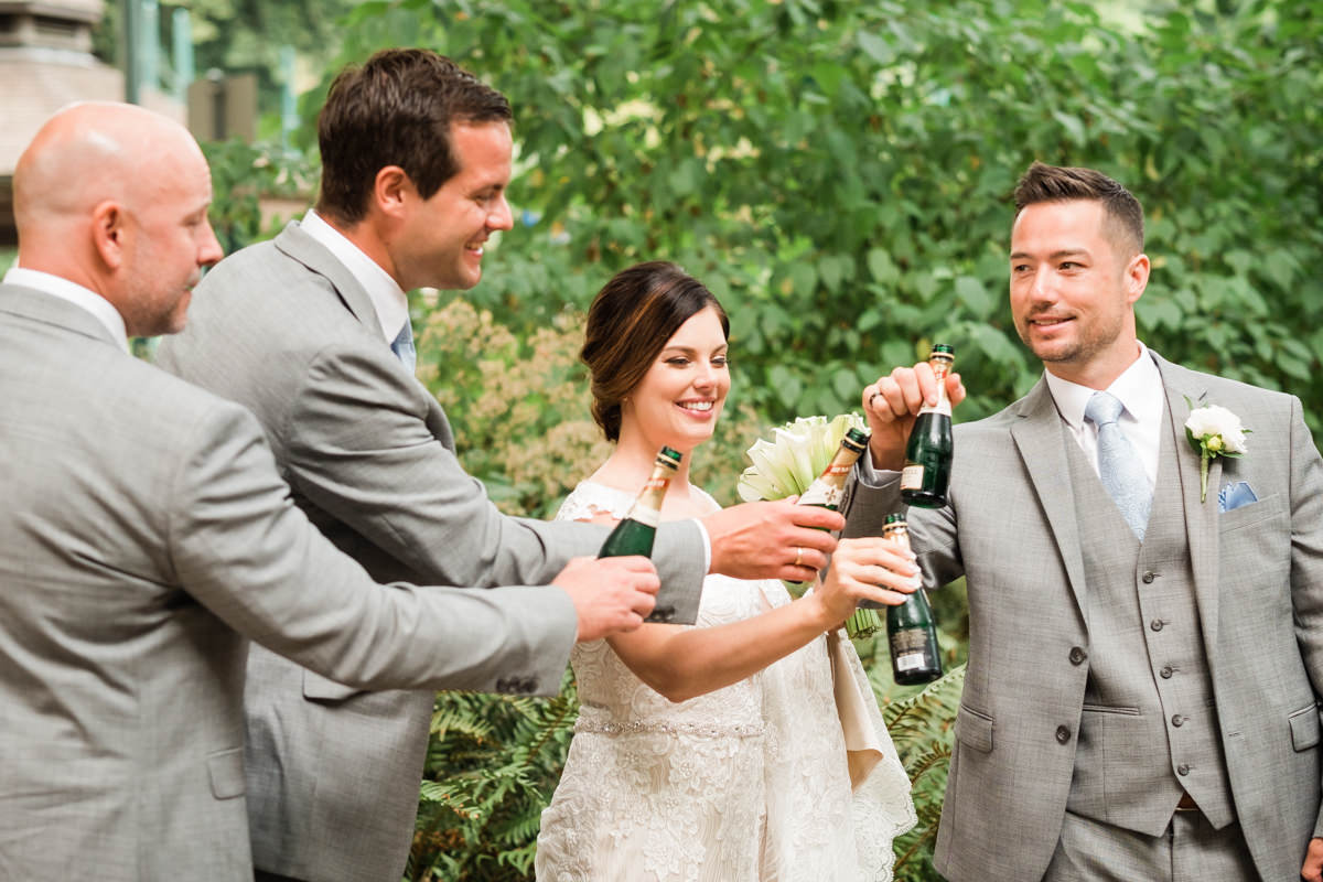 Stanley Park Pavilion wedding toast