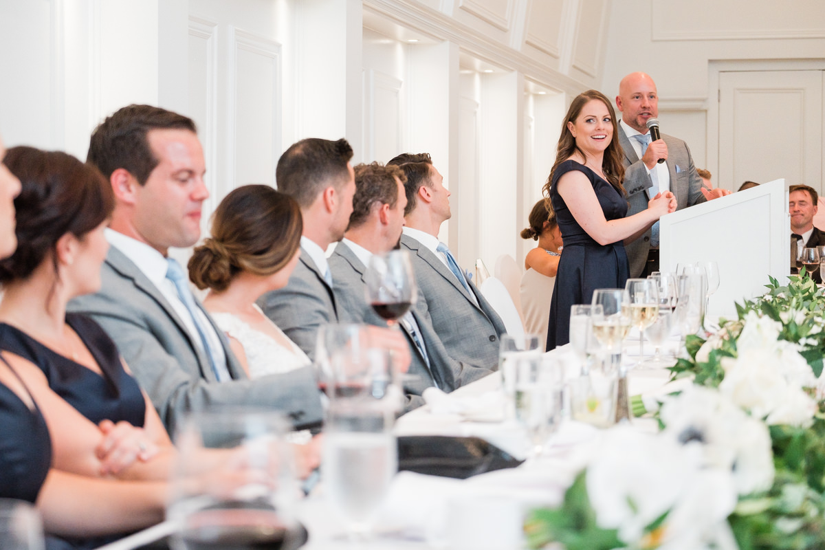 Stanley Park Pavilion wedding toasts