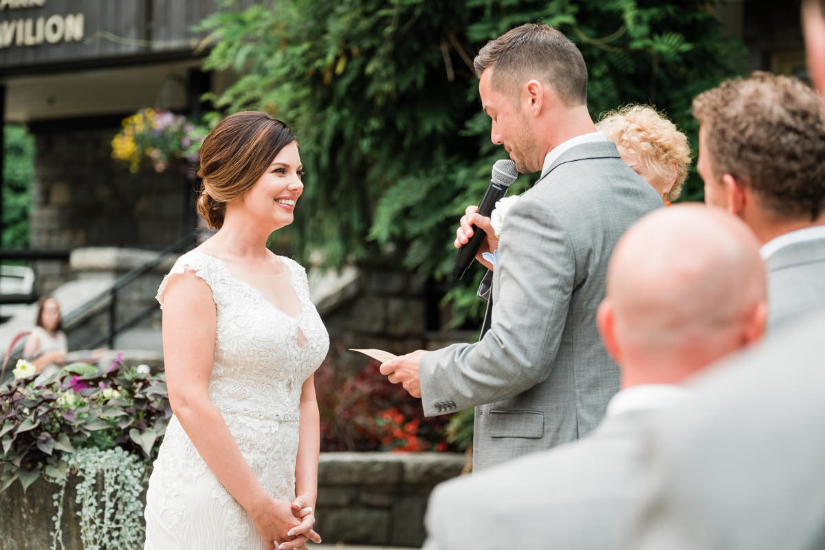 Stanley Park Pavilion wedding vows