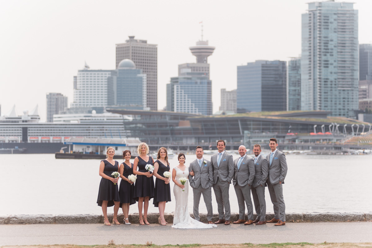 Stanley Park wedding city view