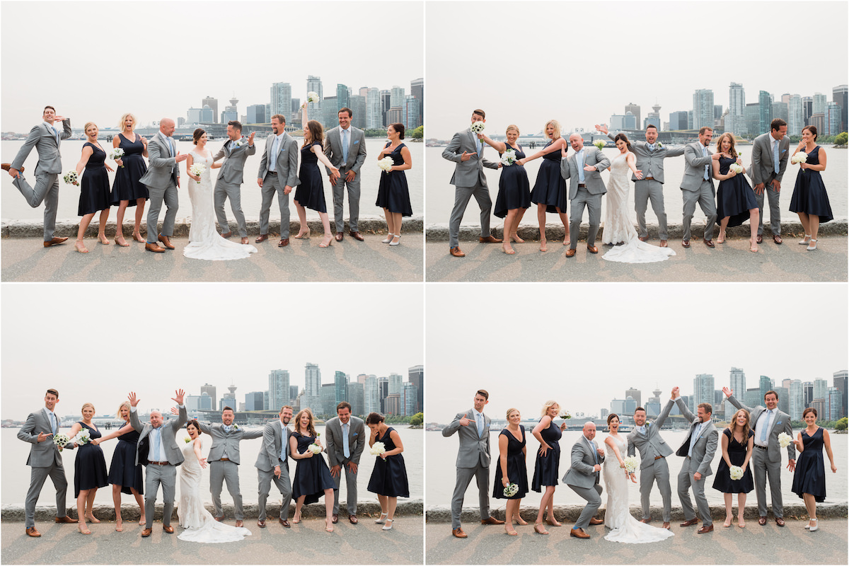 Vancouver bridal party fun