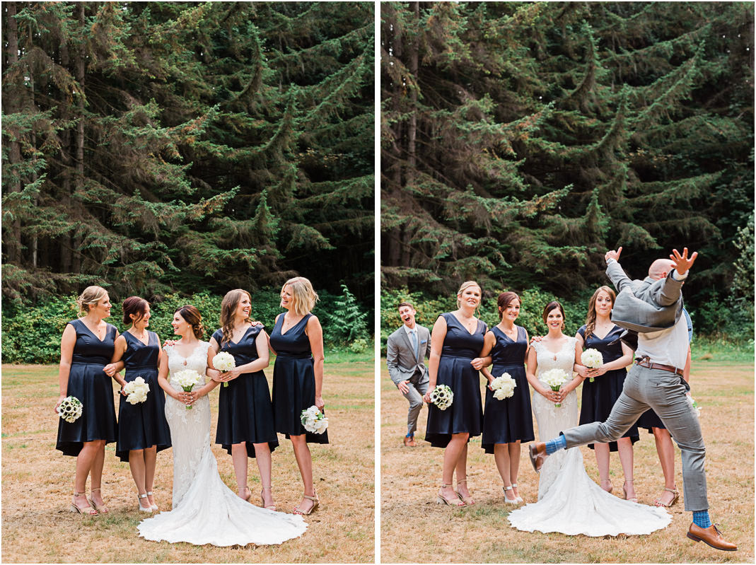 Stanley Park Pavilion wedding bridal party fun