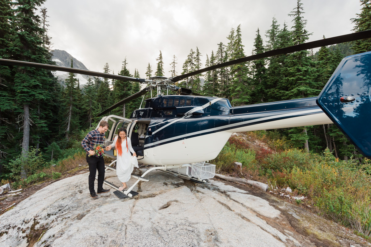 how to plan helicopter elopement