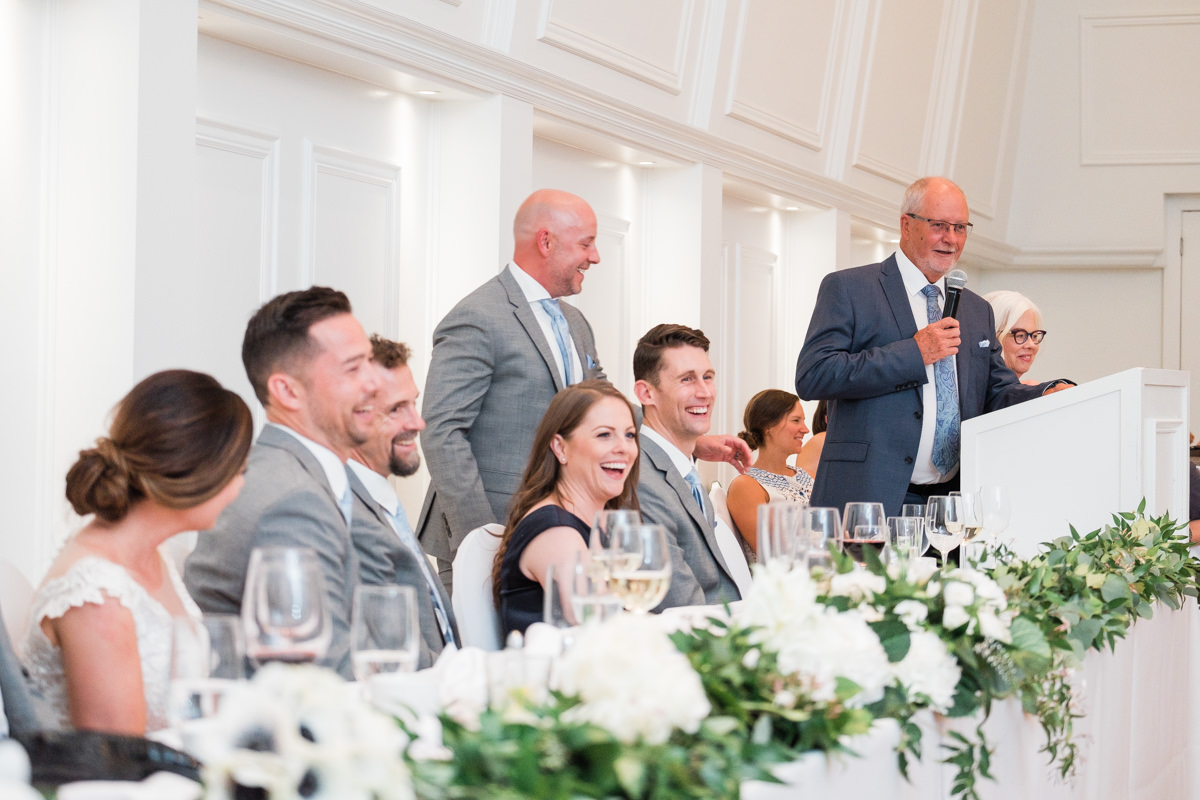 Stanley Park Pavilion wedding speeches