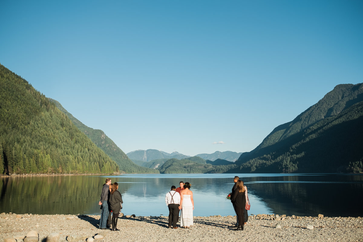 Golden Ears Park wedding ceremony