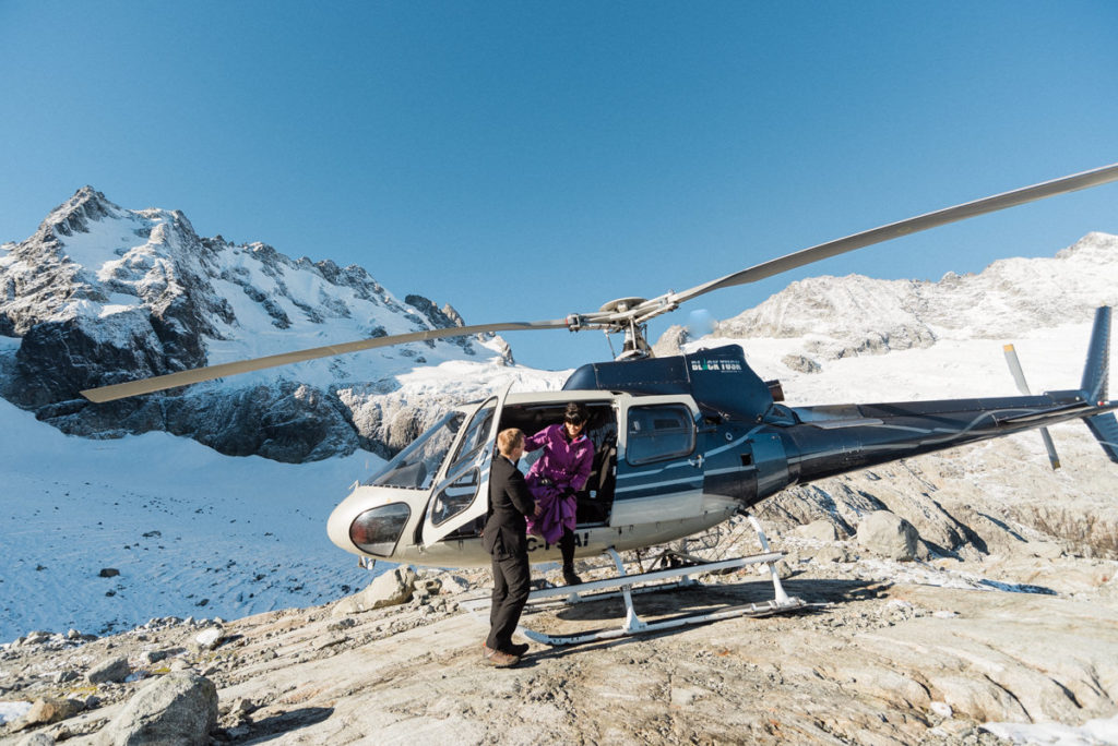 bride groom helicopter intimate wedding