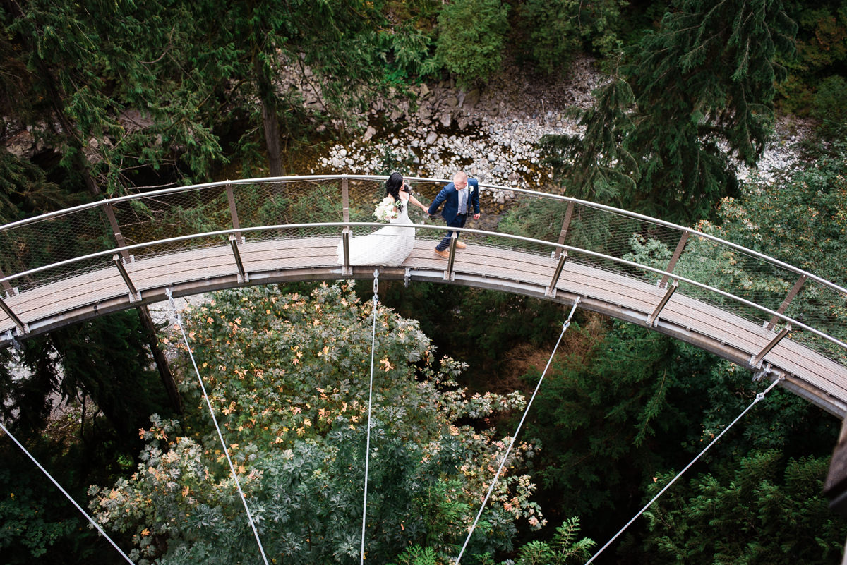 Capilano suspension bridge wedding photos