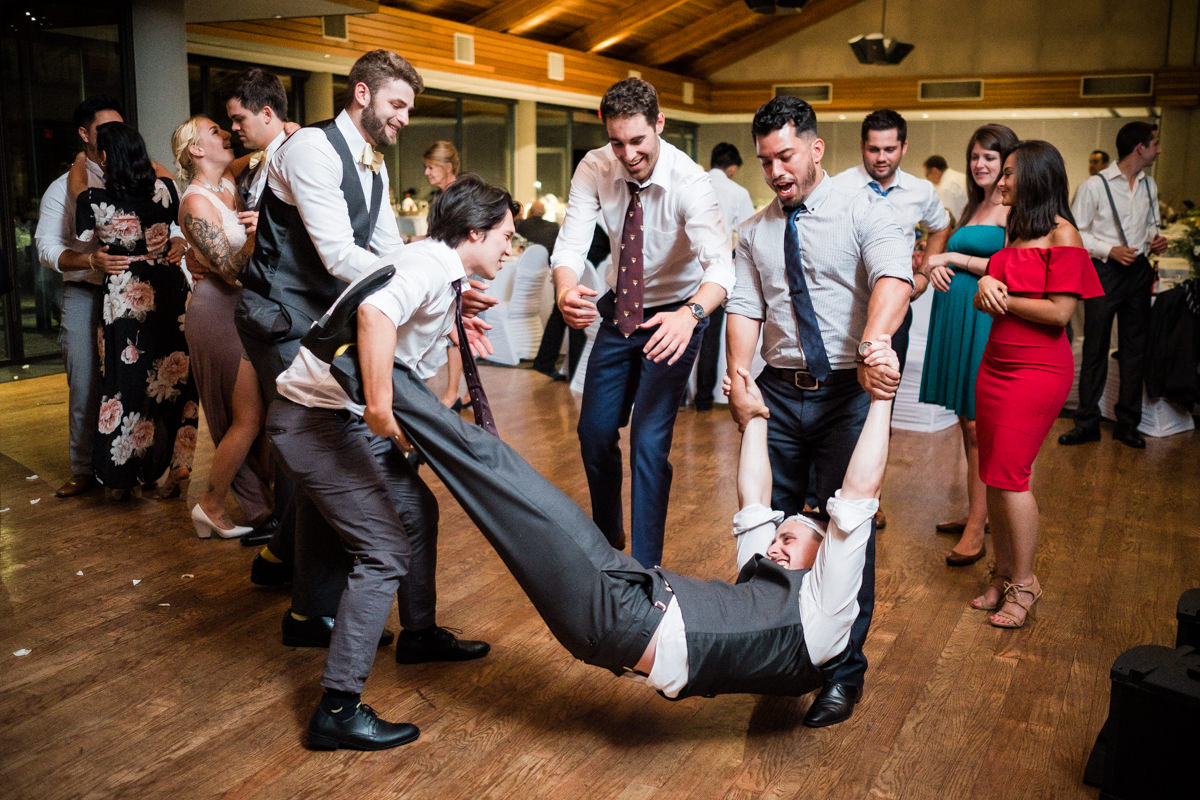 fun wedding dance photography