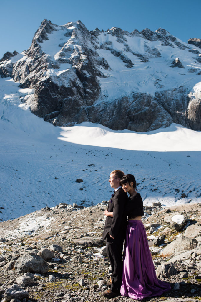 helicopter elopement Squamish Serratus glacier