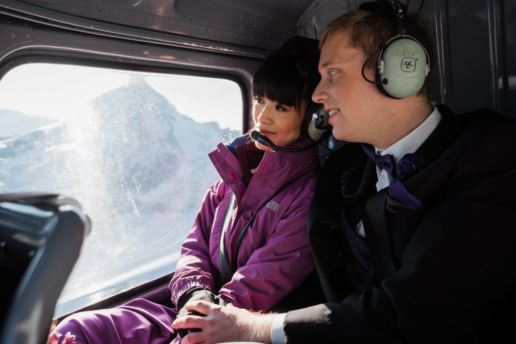 helicopter elopement in Squamish