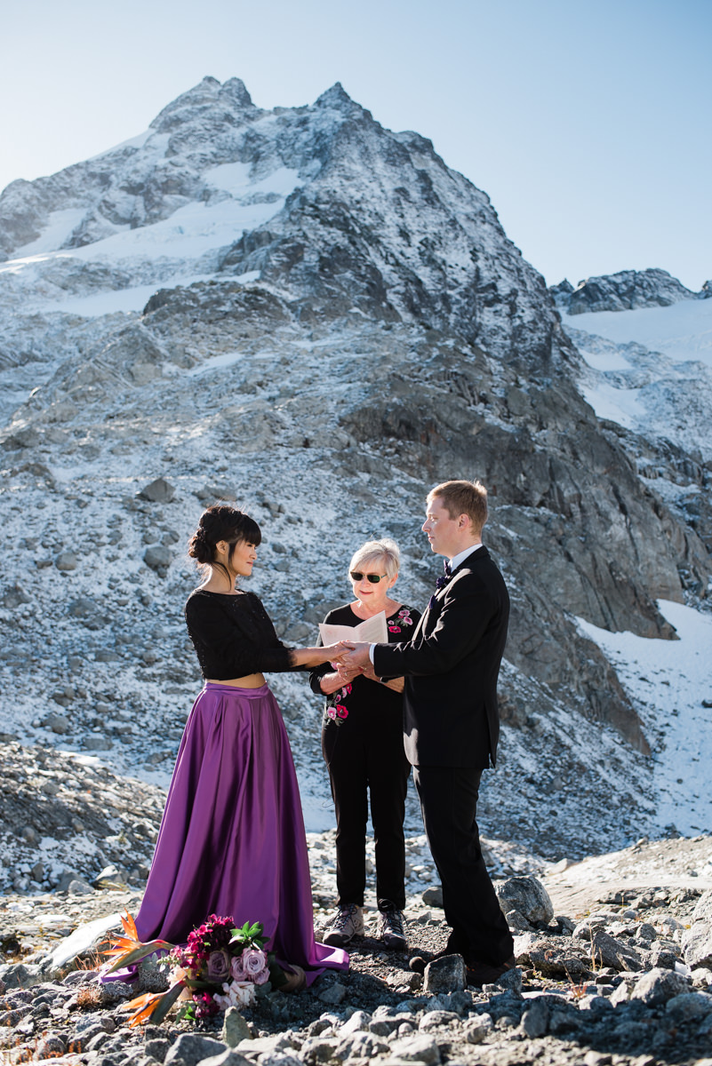helicopter elopement mountain photography