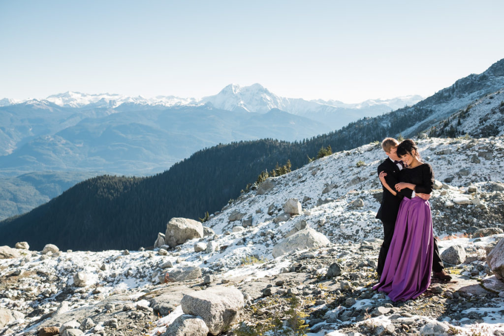helicopter glacier elopement in Squamish