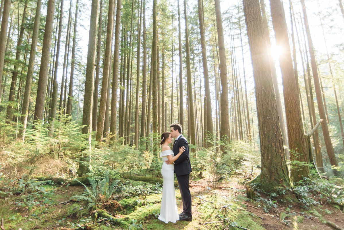North Vancouver forest elopement