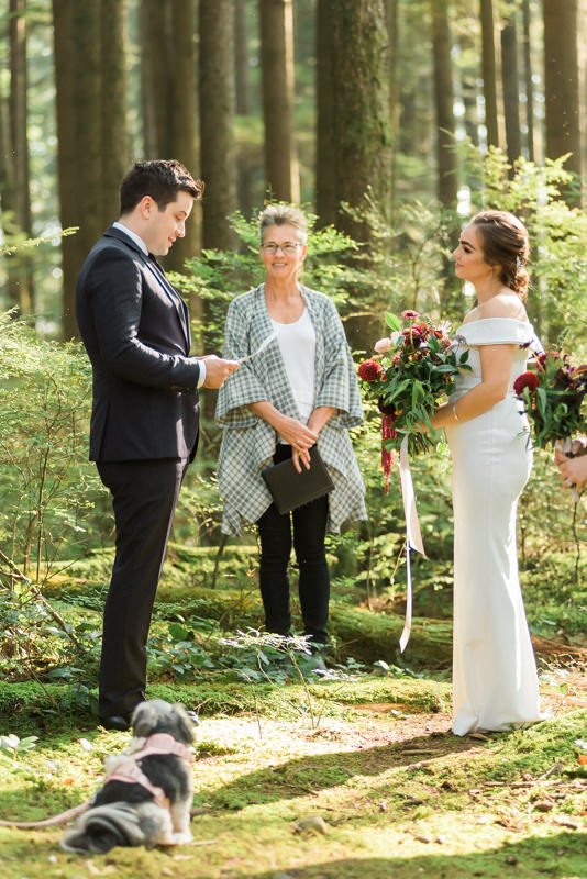 North Vancouver forest wedding ceremony