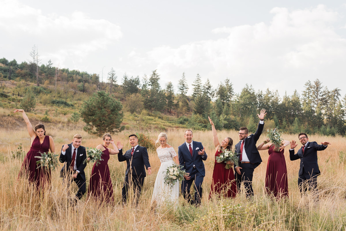 Okanagan fun wedding photographer