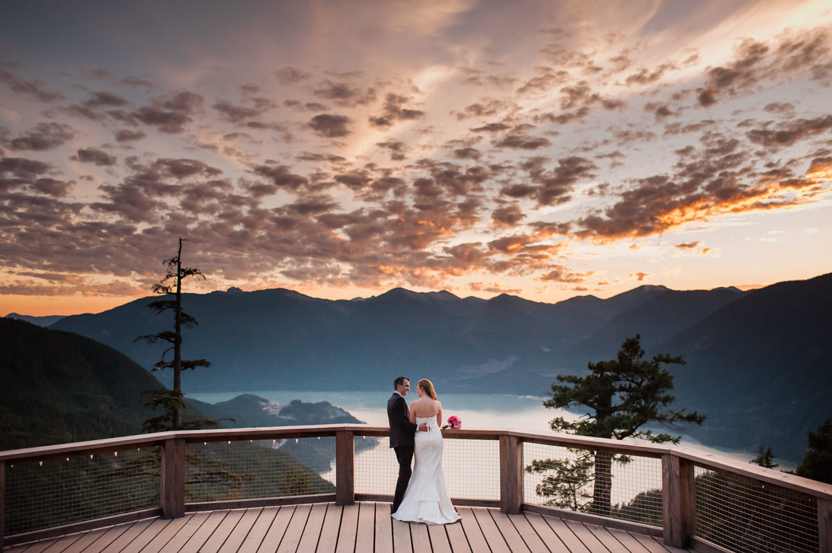 Sea to Sky gondola elopement sunset