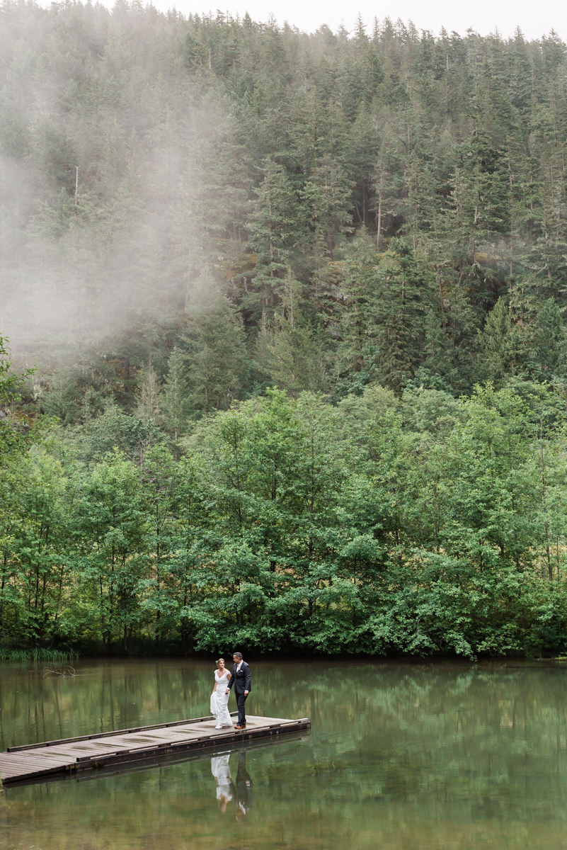 Squamish Cheakamus wedding bride groom