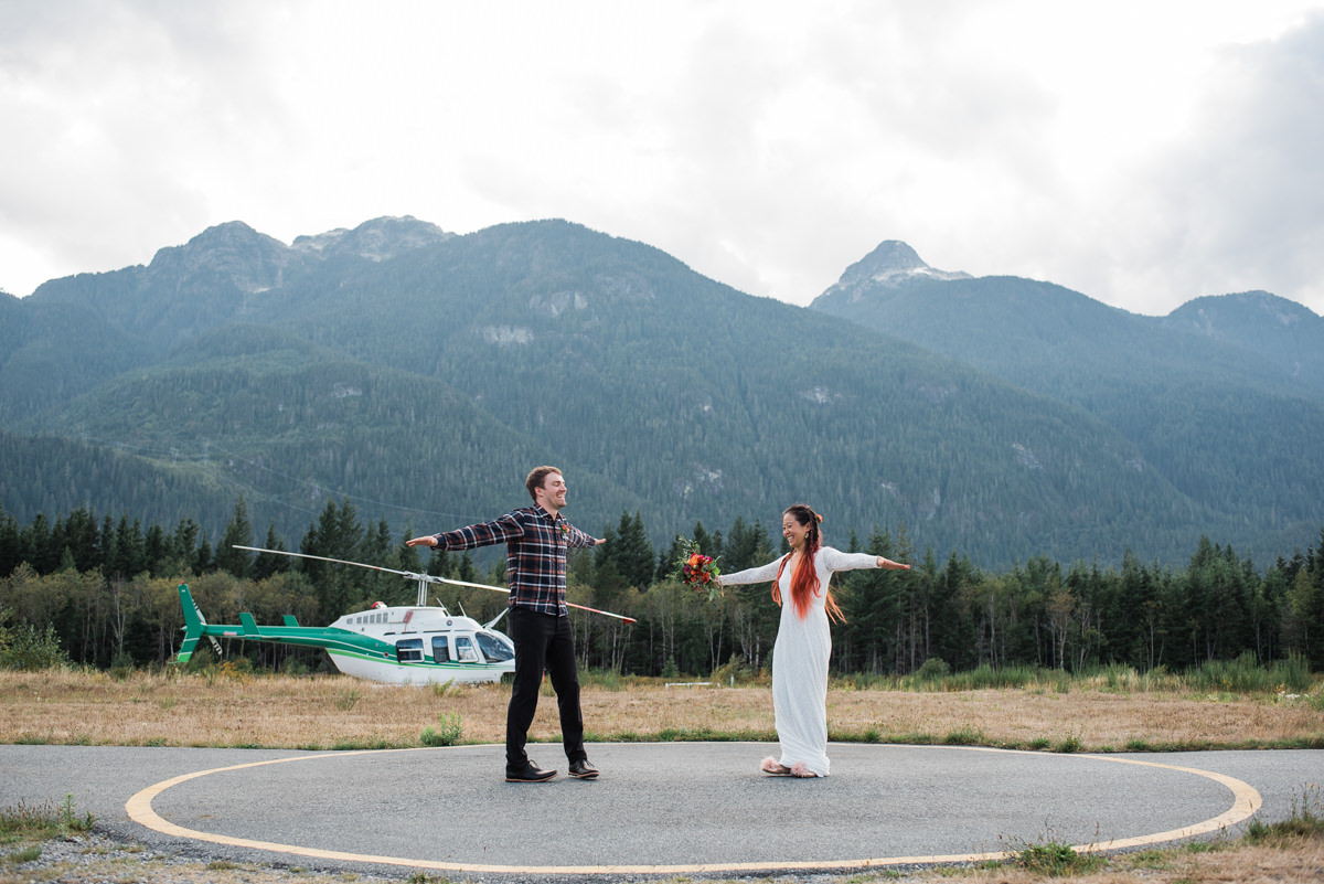 Squamish fun helicopter elopement