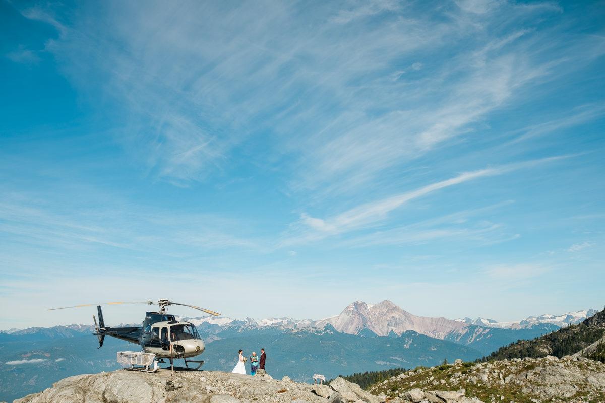 squamish helicopter wedding ceremony