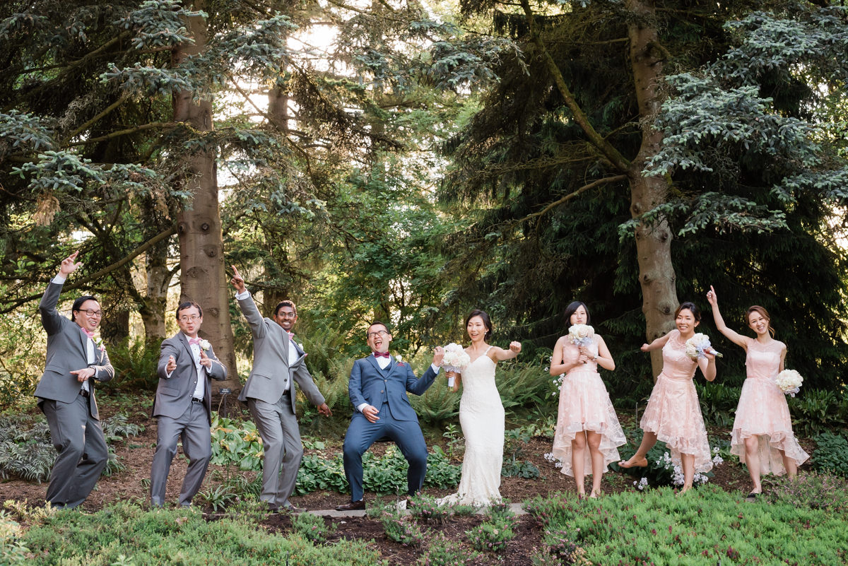 Vancouver fun bridal party