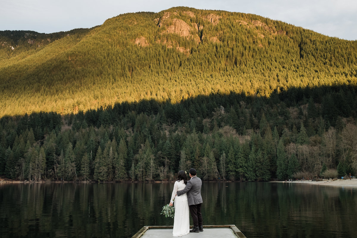 Buntzen Lake elopement wedding