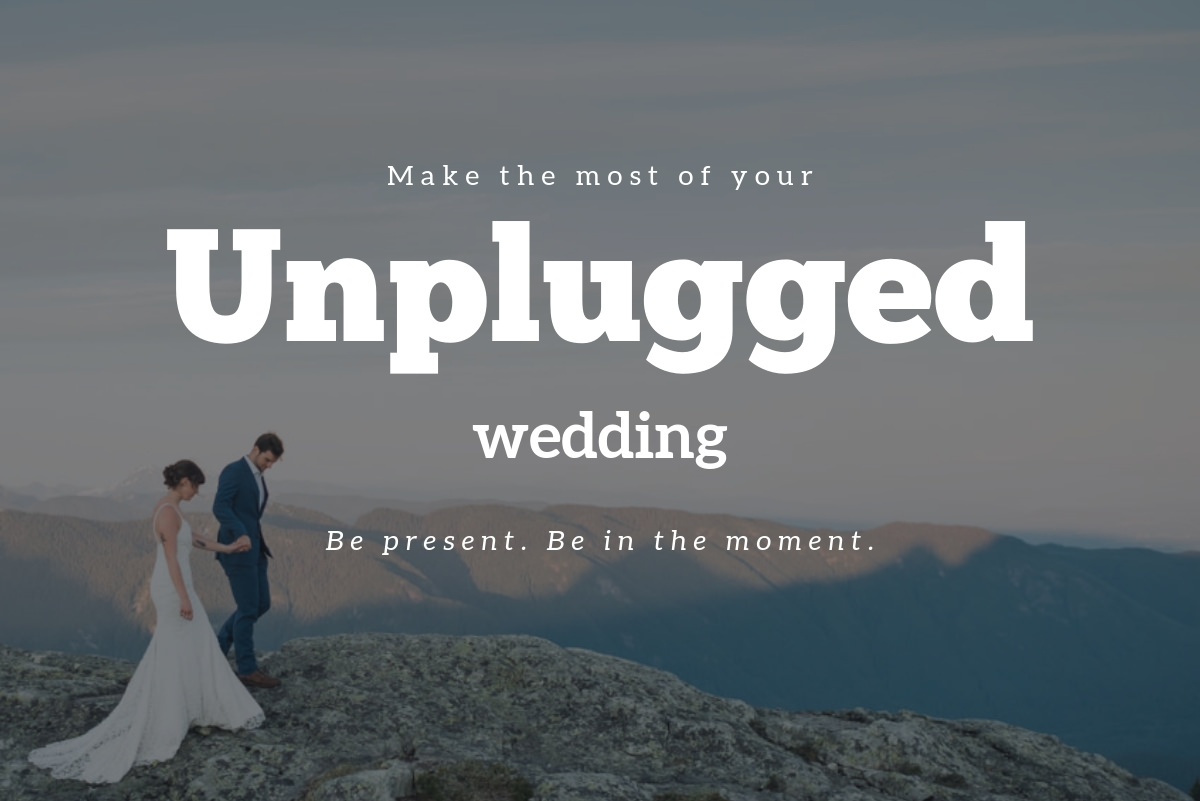 plan an unplugged wedding
