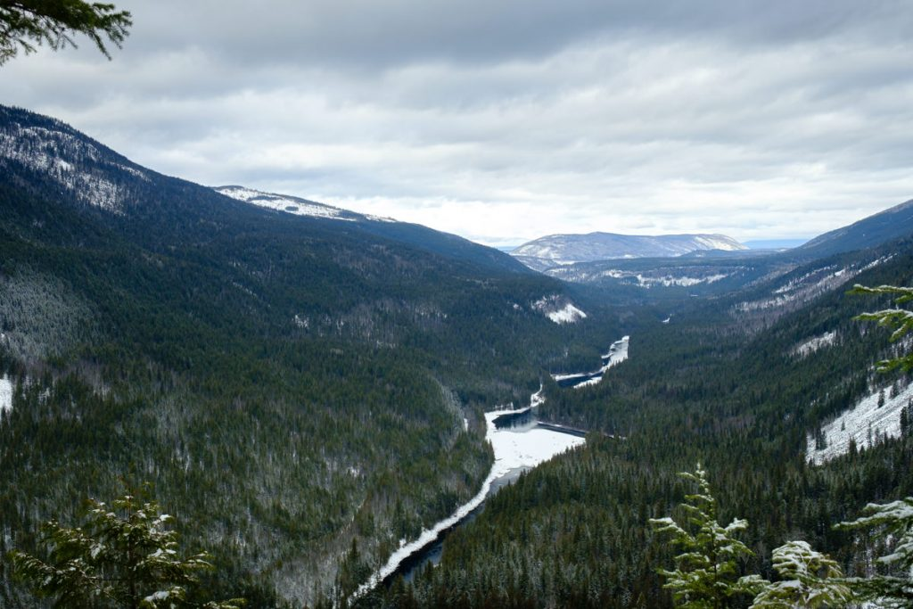 panorama landscape Clearwater River Wells Gray Provincial Park