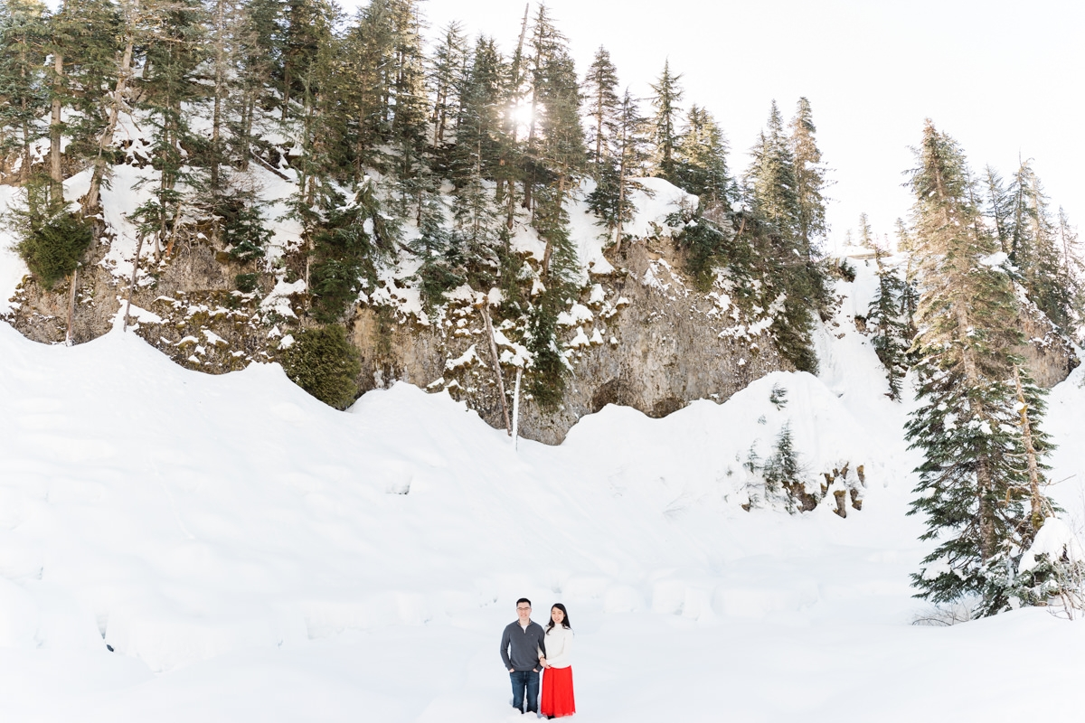 Alexander falls engagement photos in Whistler